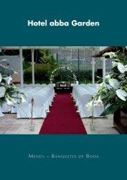 Menús de boda - abba Garden Hotel