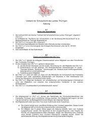 Verband der Schulaufsicht des Landes Thüringen Satzung - VSLT eV