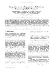 Study on the Impact of Fingerprints on the Perceptual ... - Wseas.us