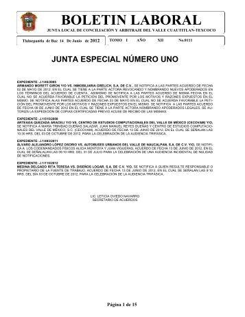 BOLETIN LABORAL - Gobierno del Estado de México