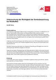 AK Wien_Roestkaffee_Test_2005.pdf - Institut für Kaffee Experten ...
