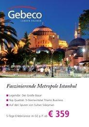 Faszinierende Metropole Istanbul - Carlson Wagonlit Travel