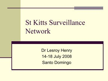 St Kitts Surveillance Network - Caribvet
