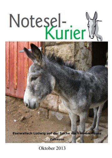 Oktober 2013 - Noteselhilfe