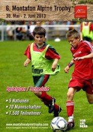 Spielplan / Schedule - Montafon Alpine Trophy