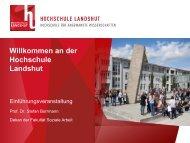 Fakultät Soziale Arbeit - Hochschule Landshut