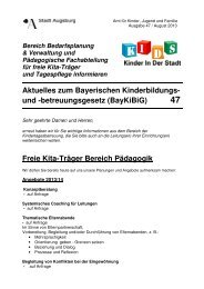 BayKiBiG Trägerinfo Nr. 47 - Kinderbetreuung in Augsburg