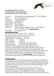 Ausschreibung EWU C Turnier Wertungsturnier Franken Cup 2013 ...