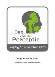 Program and abstracts - Dag van de Perceptie 2013