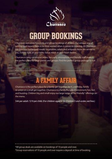 GROUP BOOKINGS - Churrasco
