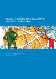Innovationsfelder der digitalen Welt. - Zukunftsstudie MÜNCHNER ...