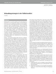 Behandlungsstrategien in der Palliativmedizin