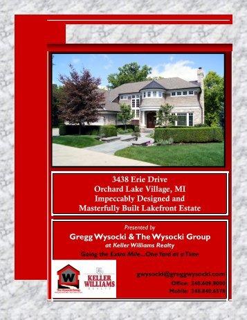 3438 Erie Drive Orchard Lake Village, MI Impeccably ... - Homestead