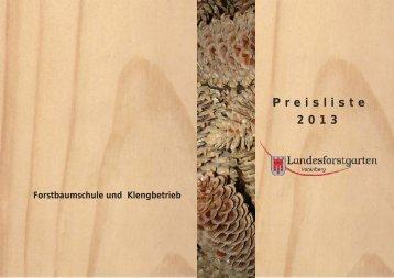 Pflanzenpreise 2013 - Vorarlberg