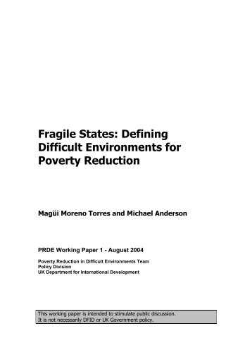 Fragile States: Defining Difficult Environments for Poverty ... - INEE