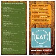 WINE MENU - EAT: Gastro Pub Dining at Massimo