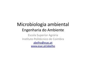 Microbiologia ambiental - ESAC
