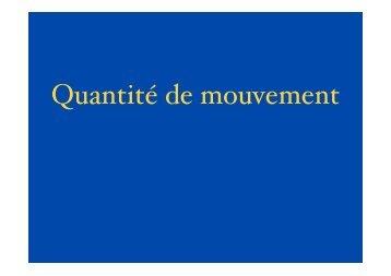 Quantité de mouvement