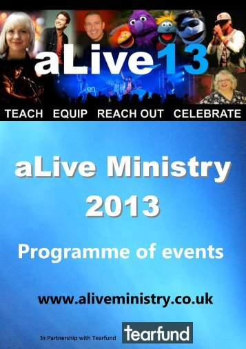 aLive 13 Programme - aLive Ministry