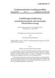 Ausführungsvereinbarung zum liechtensteinisch ... - WIPO