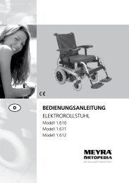 BEDIENUNGSANLEITUNG ElEktrorollstuhl - Meyra
