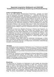 Begrenzter kooperativer Wettbewerb nach RAW 2004 ...