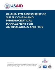 Ghana: PMI Assessment of the Supply Chain and Pharmaceutical