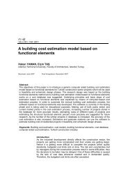 A building cost estimation model based on functional elements