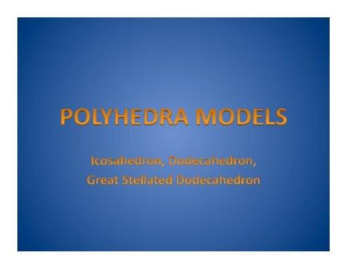 3 Polyhedra Models