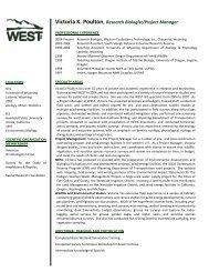 Victoria K. Poulton,Research Biologist/Project Manager - WEST, Inc.