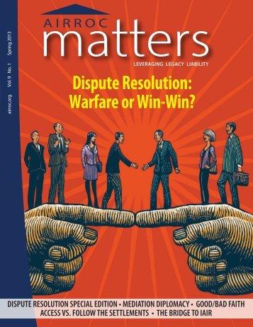 AIRROC Matters Spring 2013 Vol 9 No. 1