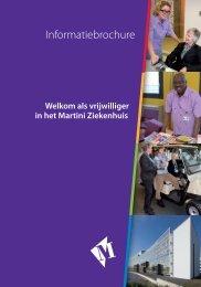 Folder Welkom als vrijwilliger - Martini ziekenhuis