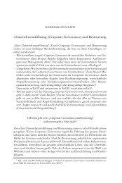 (Corporate Governance) und Besteuerung - P+P Pöllath + Partners