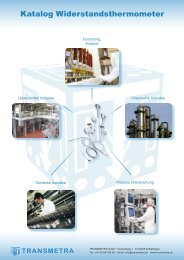 Katalog Widerstandsthermometer - Transmetra