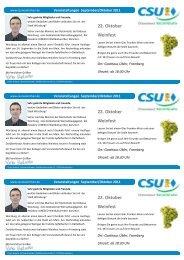 22. Oktober Weinfest 22. Oktober Weinfest 22. Oktober Weinfest - CSU