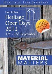 Heritage Open Days 2012 Heritage Open Days 2013