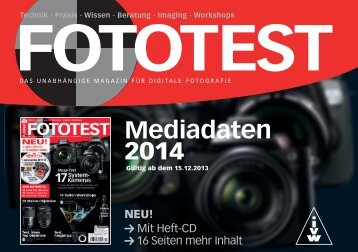 Mediadaten 2014 - FOTOTEST