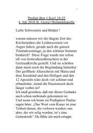 5.n.Trin.1Kor1,18-25 Gert.2004 - Evangelische Kirche Ffo
