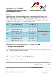 Anforderungskatalog 2014 - .pdf - Deutscher Volleyball-Verband
