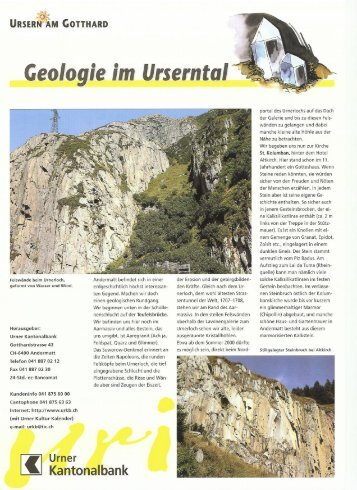 Geologie im Urserental - furrer-andermatt.ch