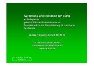 Aufklärung und Indikation zur Sectio meris-Tagung 23./24.10.2010