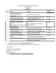 Kumpulan Penyediaan Kertas Kerja MPW1143 Julai ... - Anjung Ilmu