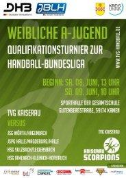 NEU !! Turnierbroschüre - TVG Handball
