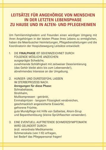 Leitsätze - Hospizbewegung Meerbusch e.V.