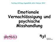 Emotionale Vernachlässigung und psychische ... - fobi:aktiv