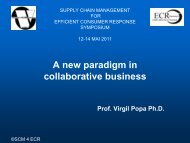 A new paradigm in collaborative business - ecr-uvt