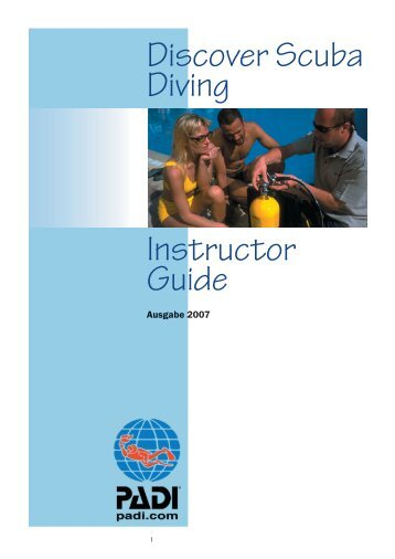 Discover Scuba Diving Instructor Guide - Water World Asia