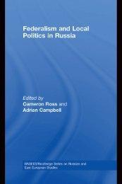 Federalism and Local Politics in Russia