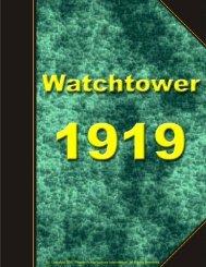 Watchtower Reprints - 1919
