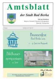 Amtsblatt der Stadt Bad Berka
